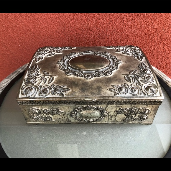Godinger Other - Godinger Silver Plated Jewelry Box Burgundy Velvet